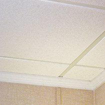 finished basement dropped ceiling tile system