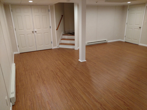 Basement Flooring After in Swedesboro