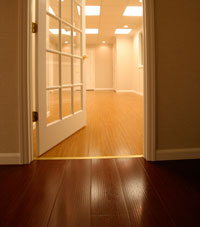 Basement Wood Flooring installed in Washington Township, New Jersey
