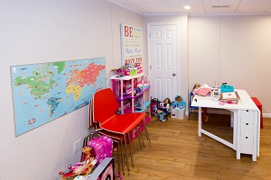 Children's playroom installed in a Swedesboro basement