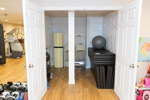 TBF finished basement with home gym in Pedricktown